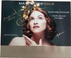 MAX FACTOR GOLD SKIN MAKE UP - SWEDEN PROMO DISPLAY BOARD (19